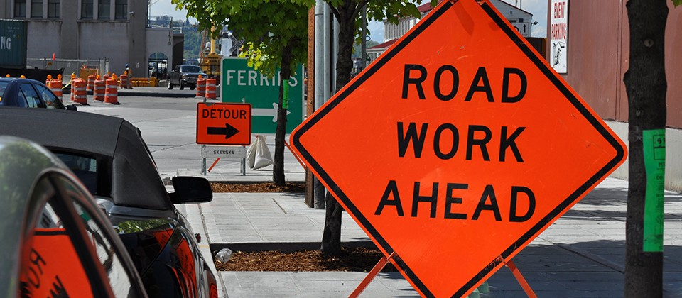 traffic signs in work zones